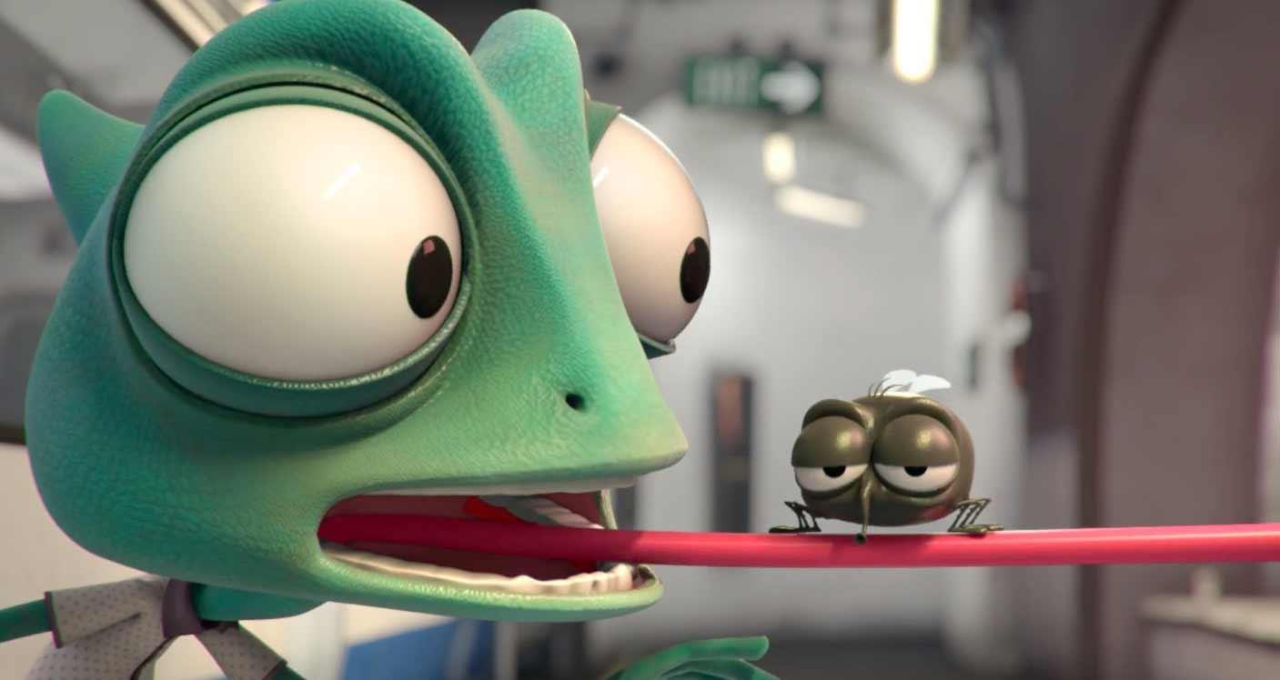 Die Probleme eines Chamäleons beim Flirtversuch animierter-kurzfilm-darrel