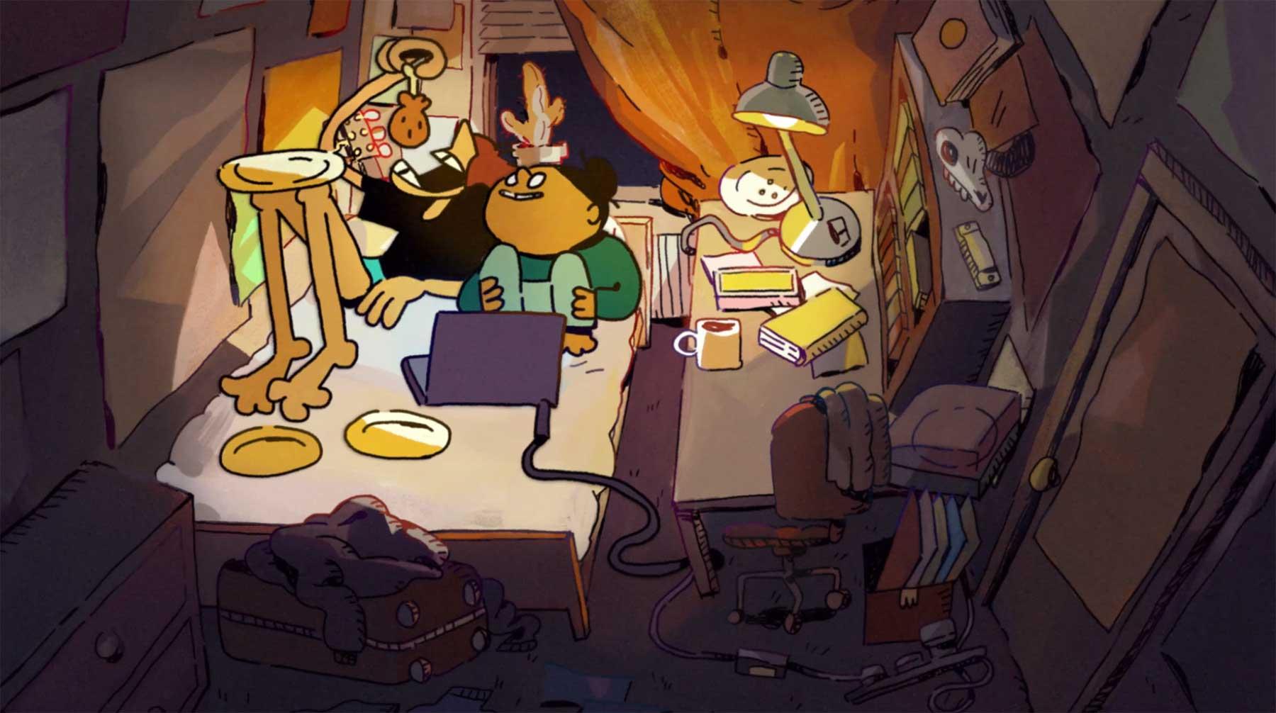 Liebeshöhle Studentenzimmer animierter-kurzfilm-love-nest