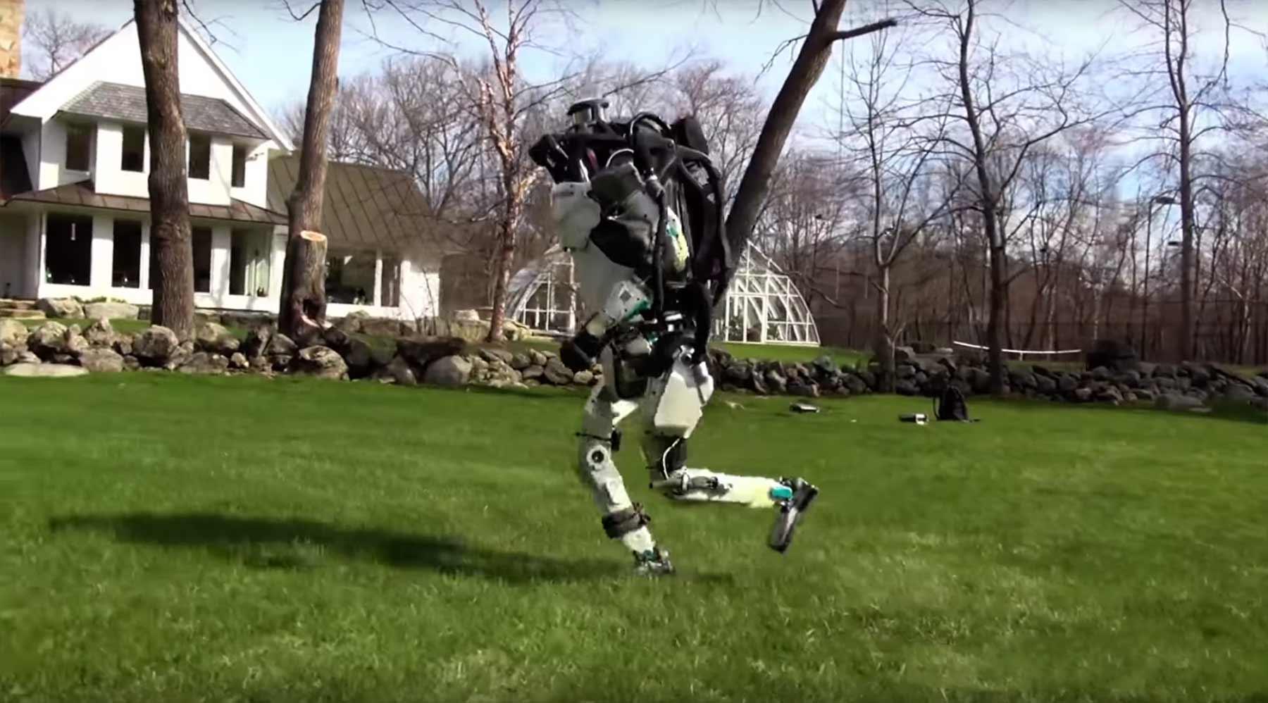 Der Atlas-Roboter von Boston Dynamics auf der Flucht