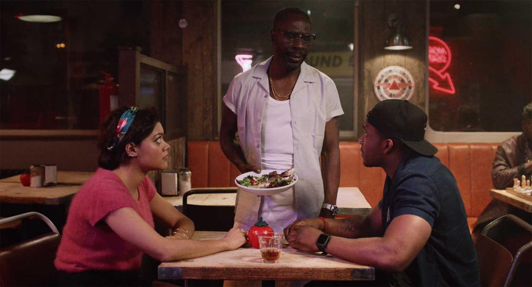 In diesem Kurzfilm werden nur Rap-Lyrics gesprochen hip-hop-cafe