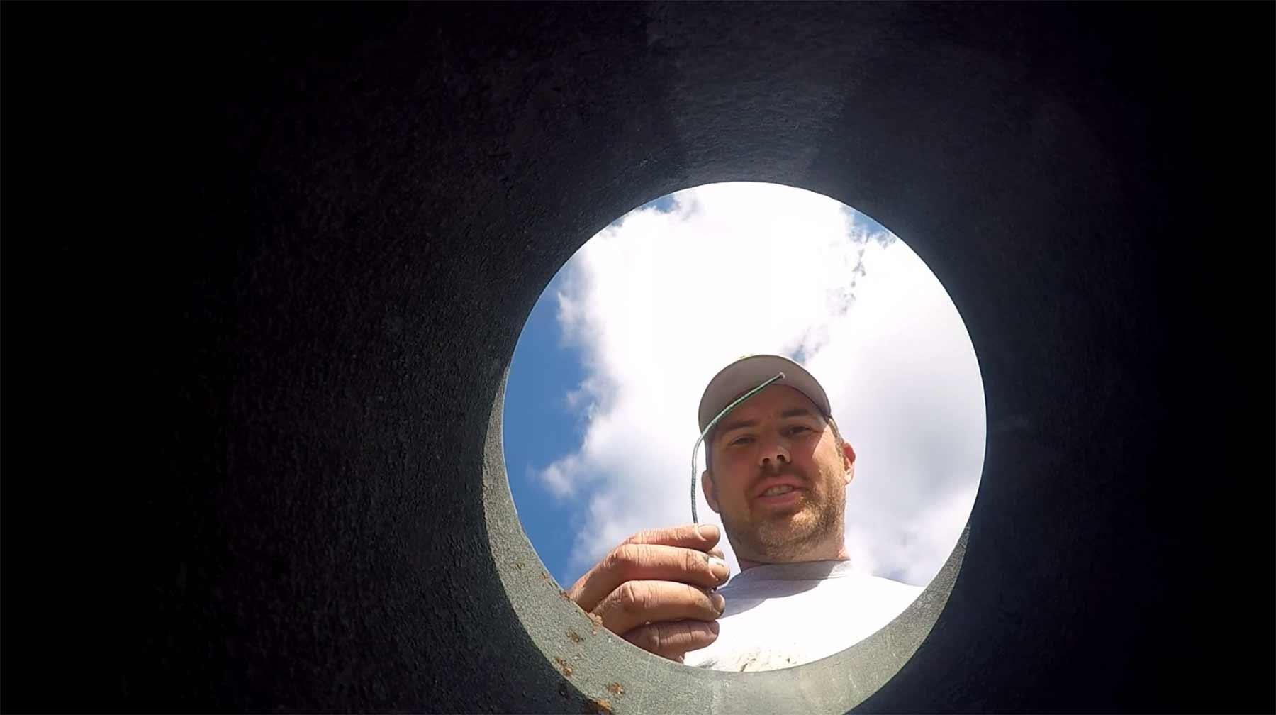 Kanonenkugel mit montierter GoPro-Kamera abschießen