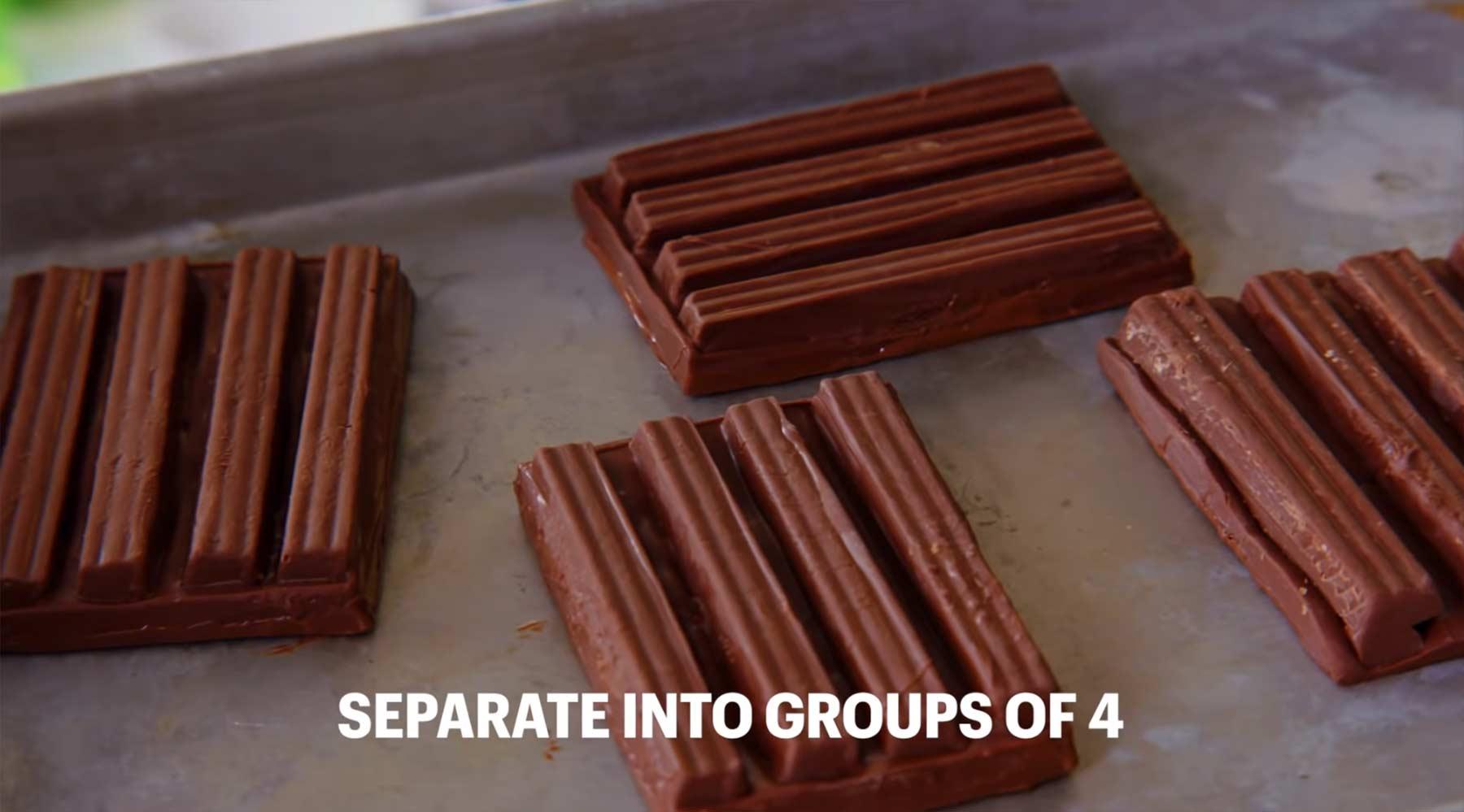 Konditorin versucht, Kit Kats nachzubacken