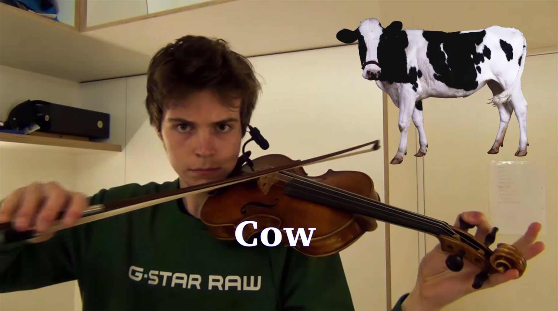 Tiergeräusche auf der Violine nachgespielt