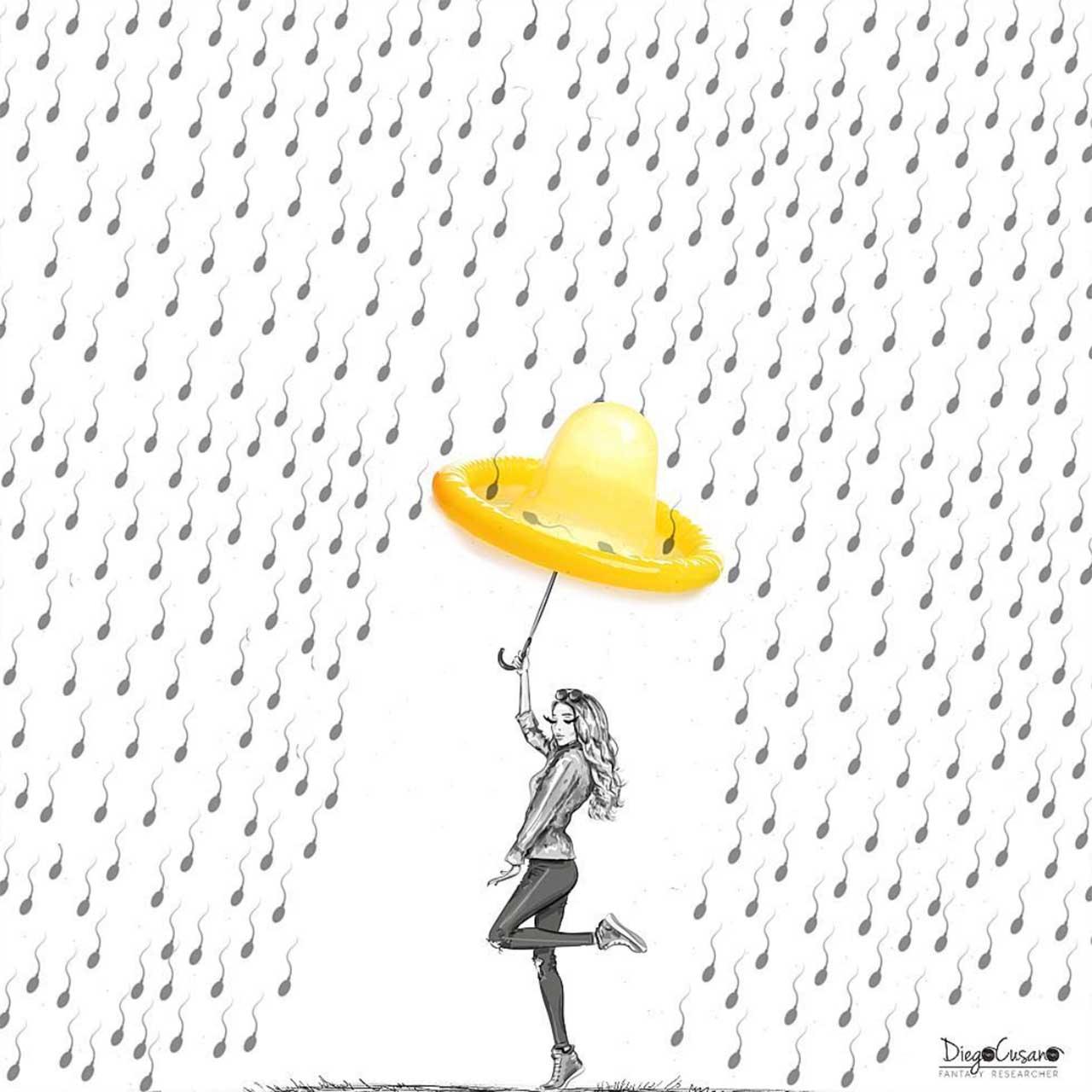 Diego Cusano vermischt Alltagsgegenstände mit Zeichnungen Diego-Cusano-alltagsdinge-treffen-zeichnungen_12