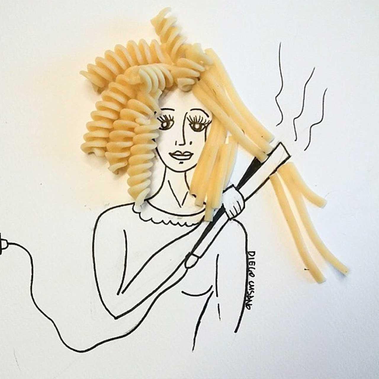 Diego Cusano vermischt Alltagsgegenstände mit Zeichnungen Diego-Cusano-alltagsdinge-treffen-zeichnungen_13