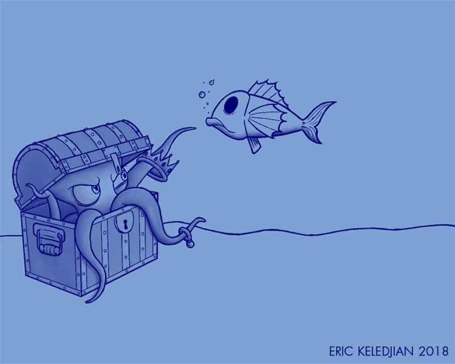 Eric Keledjian hat dieser Unterwasser-Zeichnung jeden Tag eine Figur hinzugefügt Eric-Keledjian-unterwasser-Zeichnung_02