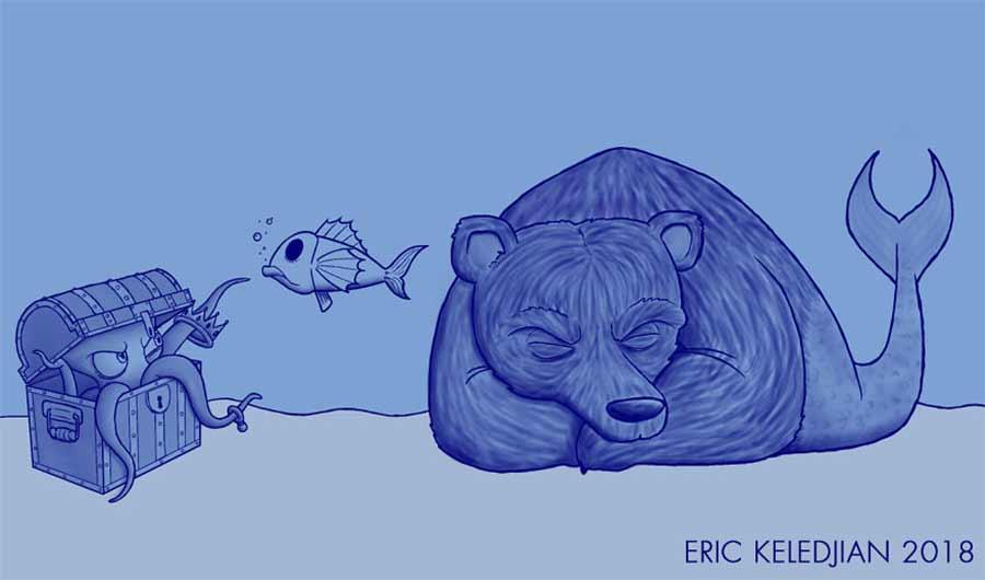 Eric Keledjian hat dieser Unterwasser-Zeichnung jeden Tag eine Figur hinzugefügt Eric-Keledjian-unterwasser-Zeichnung_03
