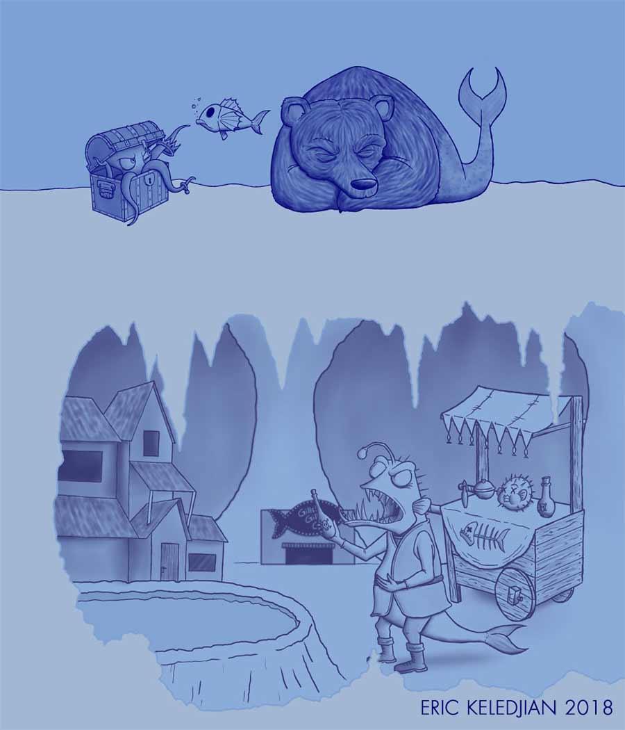 Eric Keledjian hat dieser Unterwasser-Zeichnung jeden Tag eine Figur hinzugefügt Eric-Keledjian-unterwasser-Zeichnung_05