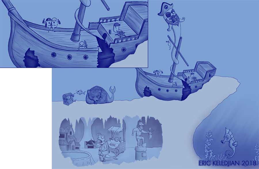 Eric Keledjian hat dieser Unterwasser-Zeichnung jeden Tag eine Figur hinzugefügt Eric-Keledjian-unterwasser-Zeichnung_09