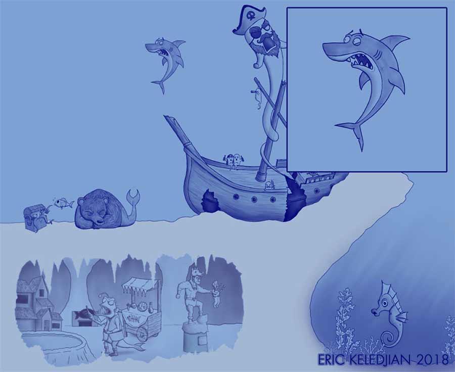 Eric Keledjian hat dieser Unterwasser-Zeichnung jeden Tag eine Figur hinzugefügt Eric-Keledjian-unterwasser-Zeichnung_11