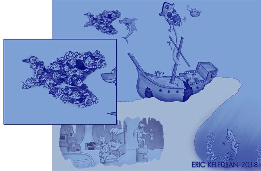 Eric Keledjian hat dieser Unterwasser-Zeichnung jeden Tag eine Figur hinzugefügt Eric-Keledjian-unterwasser-Zeichnung_12