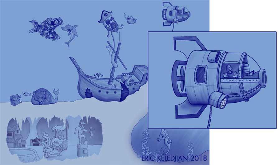 Eric Keledjian hat dieser Unterwasser-Zeichnung jeden Tag eine Figur hinzugefügt Eric-Keledjian-unterwasser-Zeichnung_14