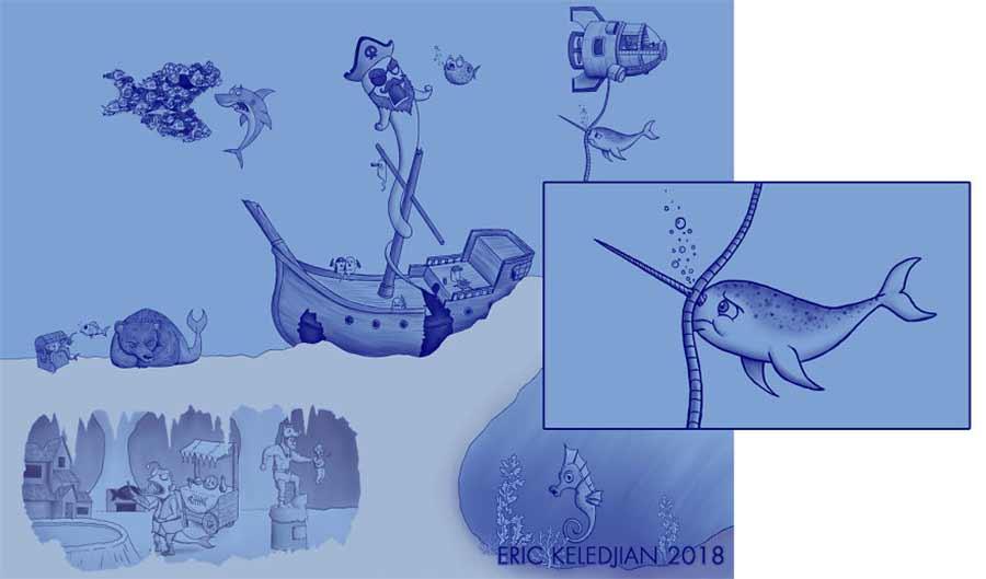 Eric Keledjian hat dieser Unterwasser-Zeichnung jeden Tag eine Figur hinzugefügt Eric-Keledjian-unterwasser-Zeichnung_15
