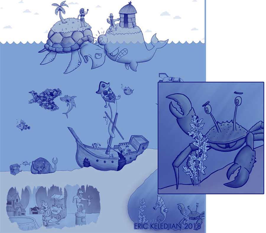 Eric Keledjian hat dieser Unterwasser-Zeichnung jeden Tag eine Figur hinzugefügt Eric-Keledjian-unterwasser-Zeichnung_21