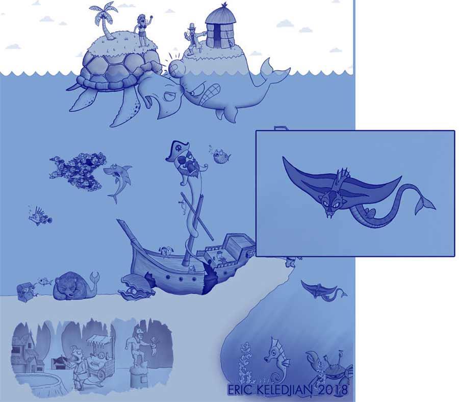 Eric Keledjian hat dieser Unterwasser-Zeichnung jeden Tag eine Figur hinzugefügt Eric-Keledjian-unterwasser-Zeichnung_23