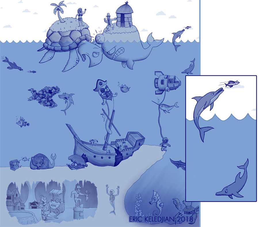 Eric Keledjian hat dieser Unterwasser-Zeichnung jeden Tag eine Figur hinzugefügt Eric-Keledjian-unterwasser-Zeichnung_26