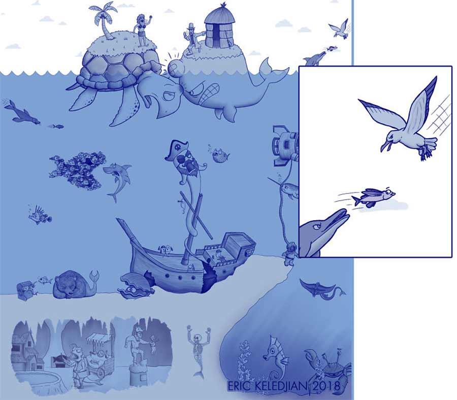 Eric Keledjian hat dieser Unterwasser-Zeichnung jeden Tag eine Figur hinzugefügt Eric-Keledjian-unterwasser-Zeichnung_27