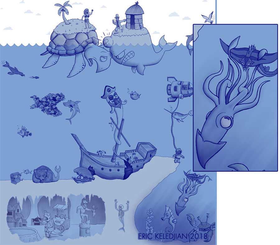 Eric Keledjian hat dieser Unterwasser-Zeichnung jeden Tag eine Figur hinzugefügt Eric-Keledjian-unterwasser-Zeichnung_28