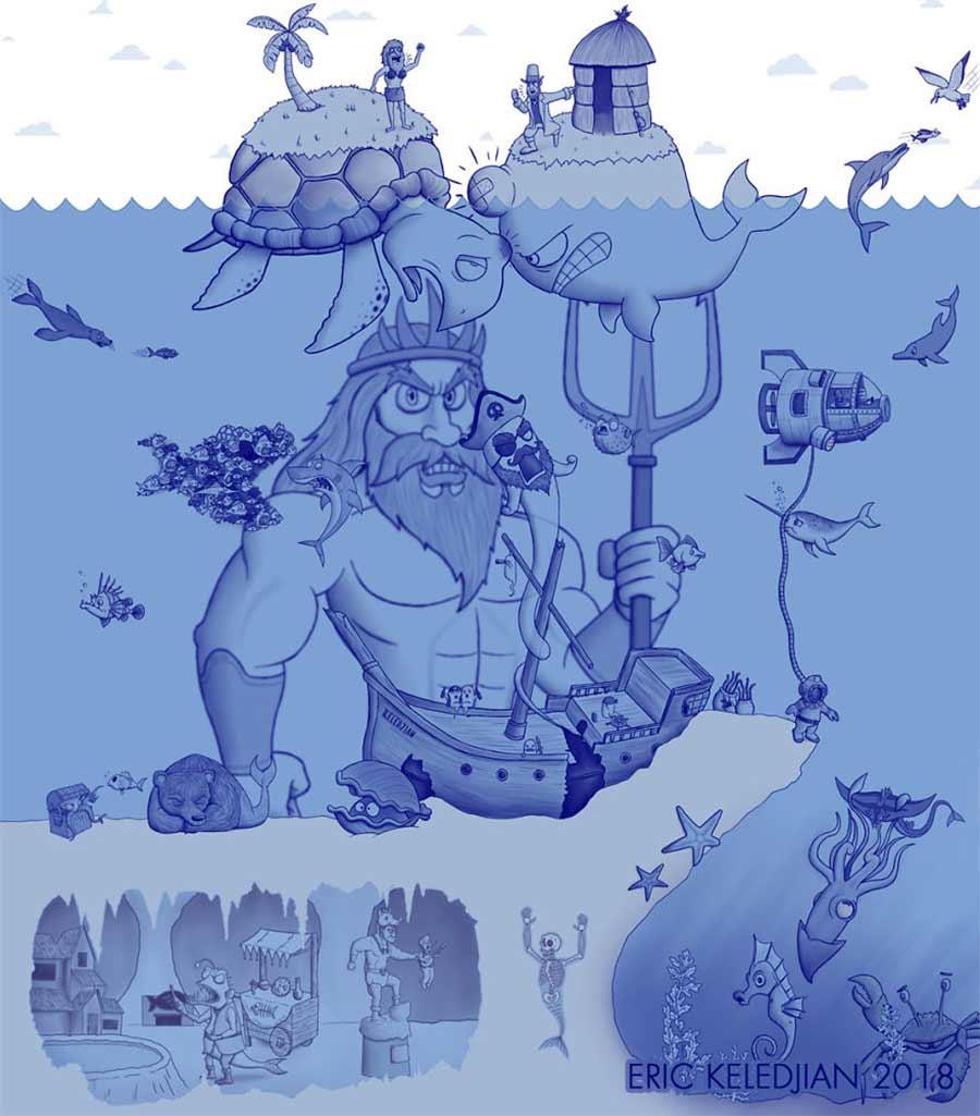 Eric Keledjian hat dieser Unterwasser-Zeichnung jeden Tag eine Figur hinzugefügt Eric-Keledjian-unterwasser-Zeichnung_30