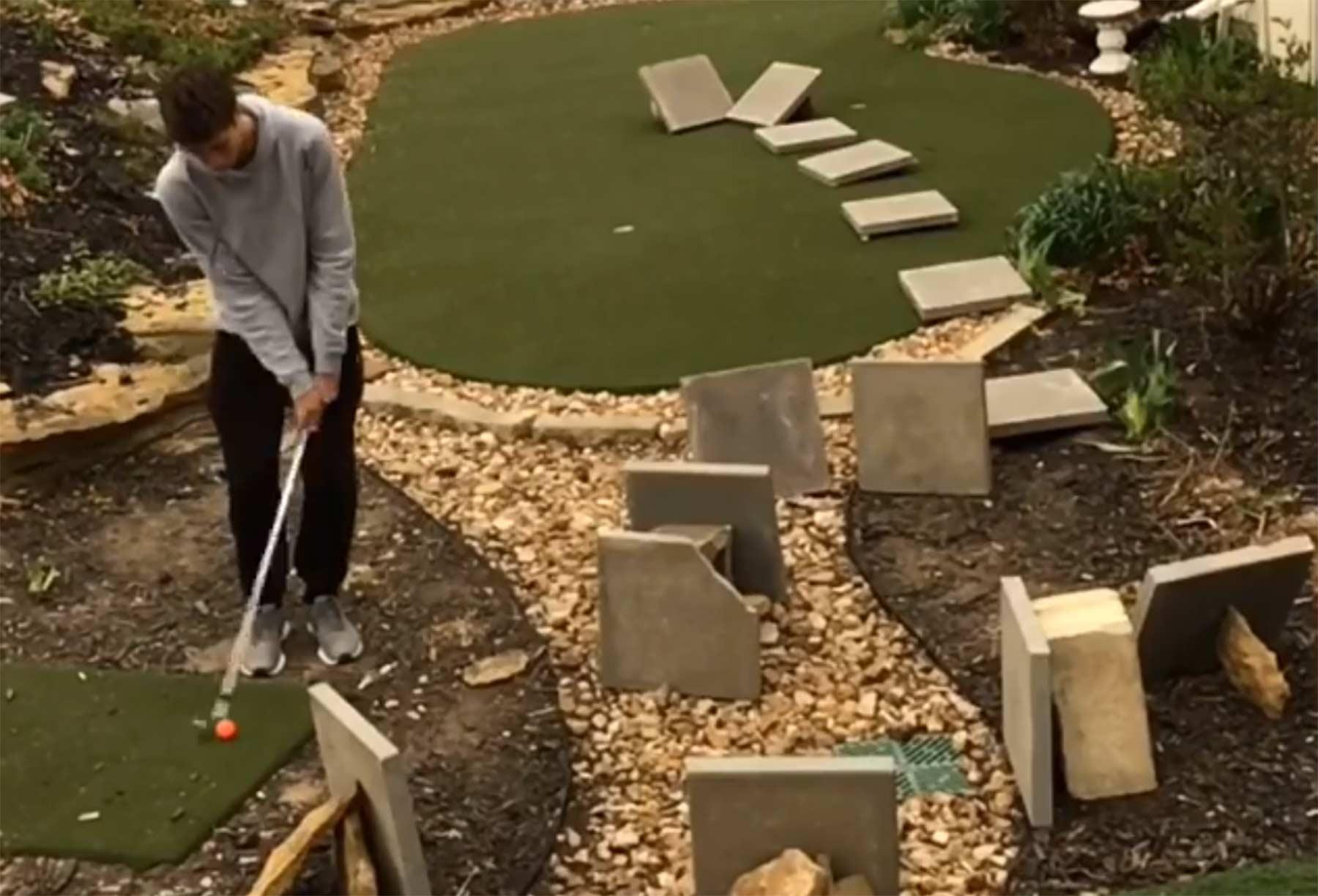Minigolf-Trickshots GM-Golf-trickshots