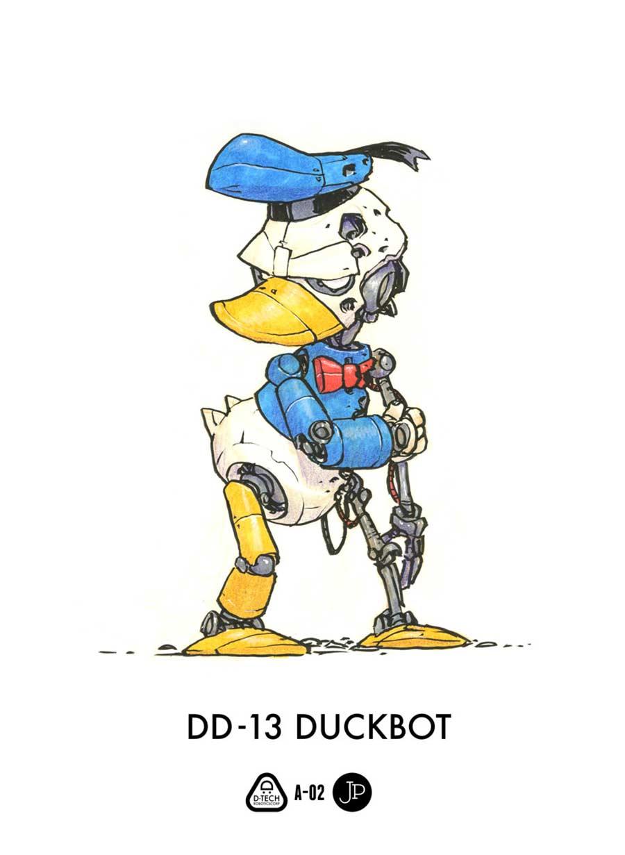 Cartoon-Figuren als Roboter Jake-Parker-Robot-Fan-Art_03