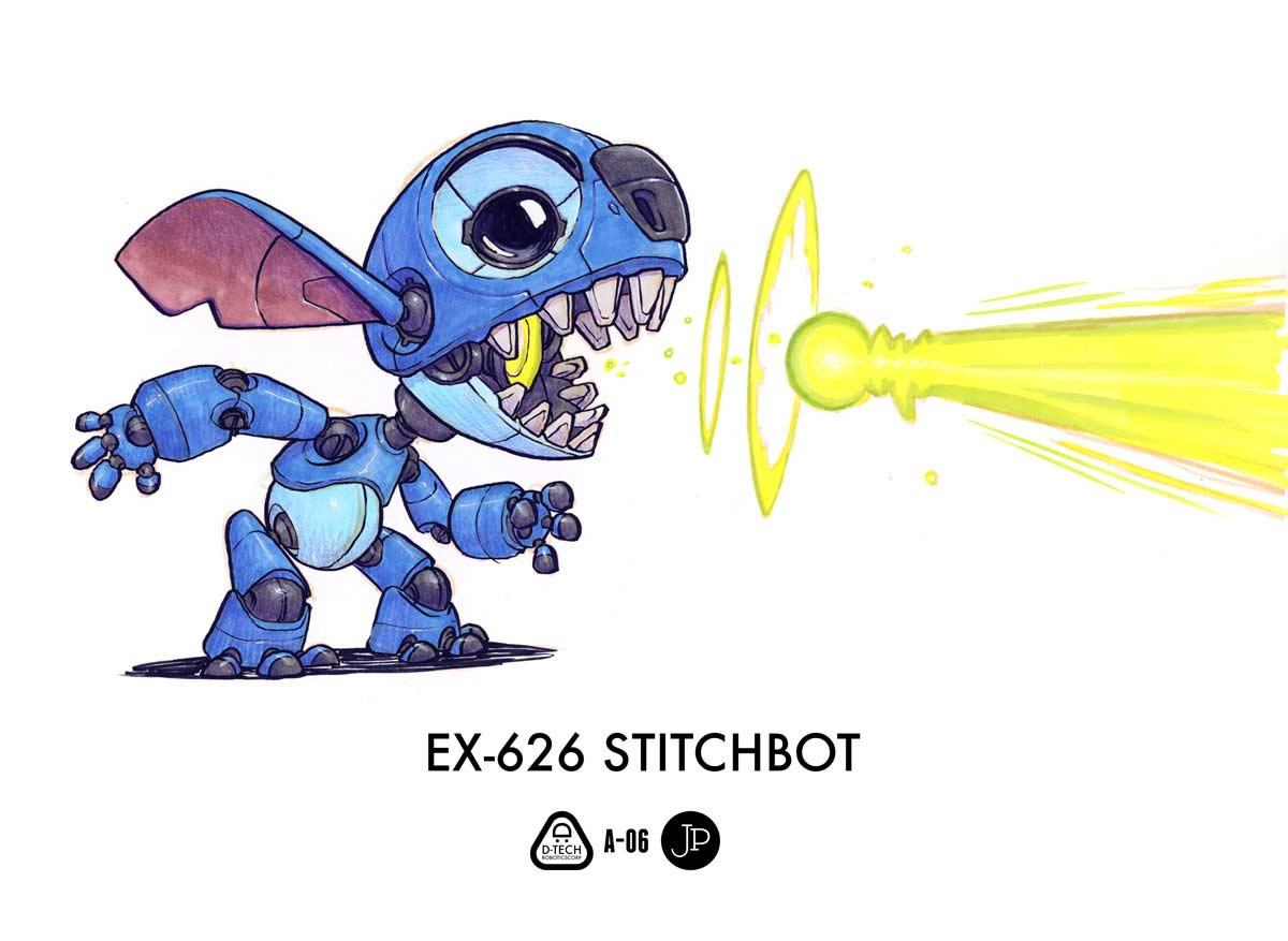 Cartoon-Figuren als Roboter Jake-Parker-Robot-Fan-Art_05