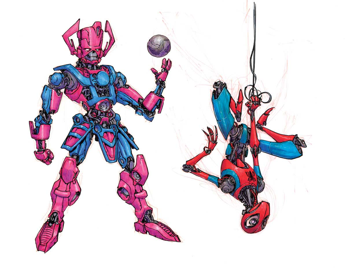 Cartoon-Figuren als Roboter Jake-Parker-Robot-Fan-Art_07