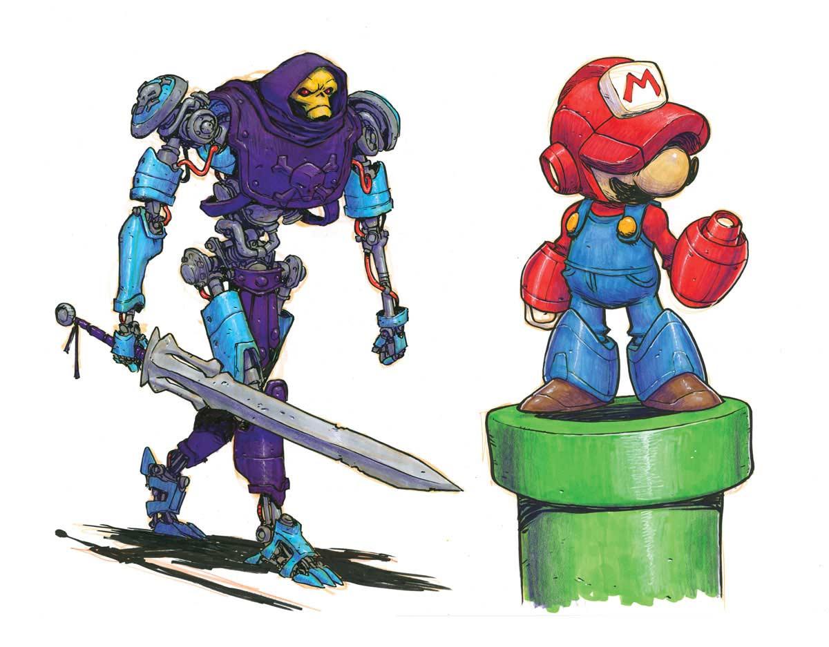 Cartoon-Figuren als Roboter Jake-Parker-Robot-Fan-Art_08
