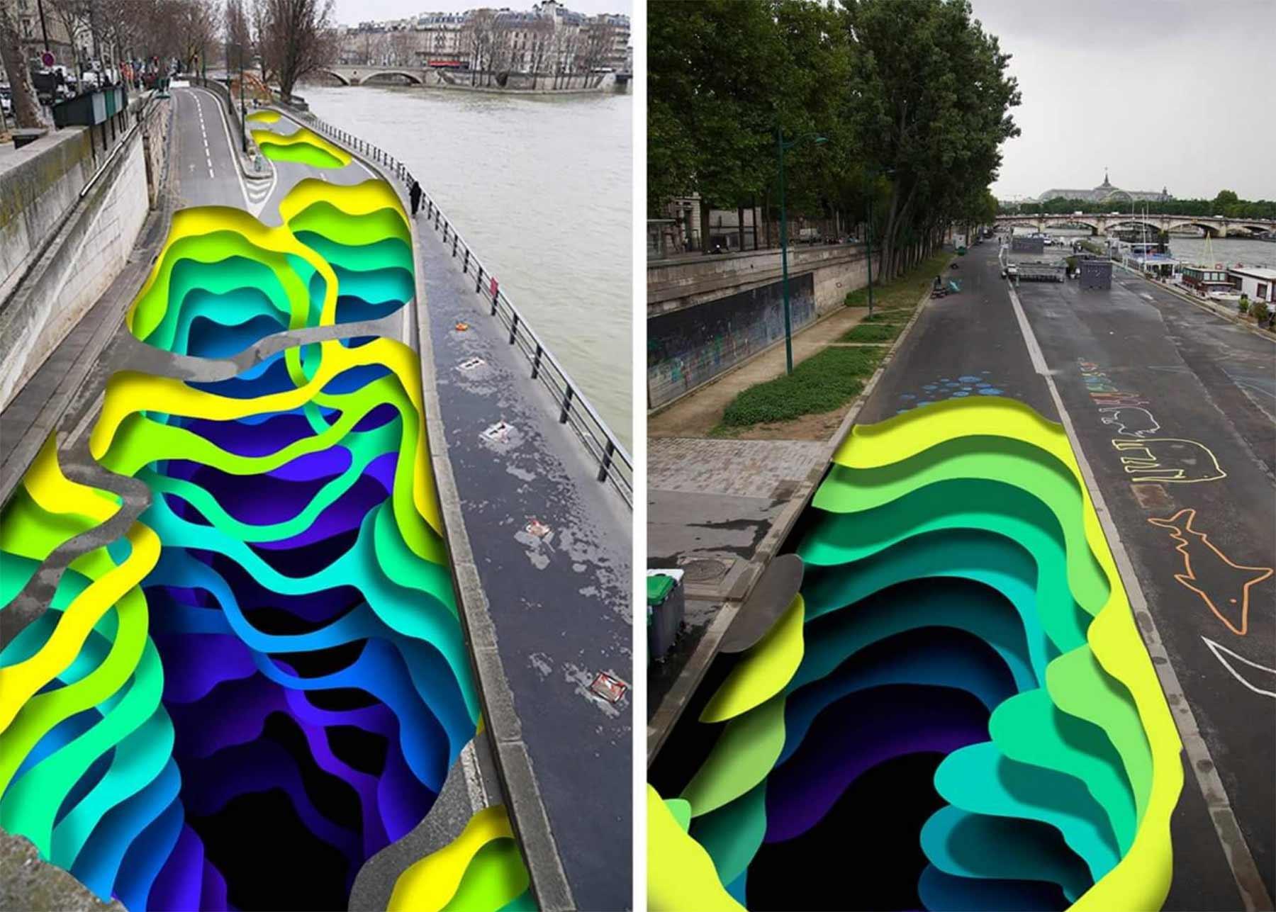 18.000 Quadratmeter großes 3D-Loch im Boden