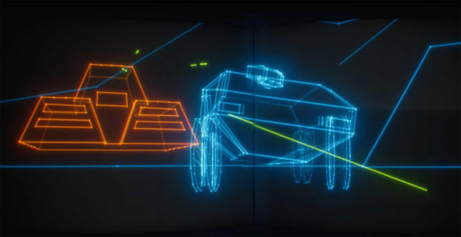 Vektor-Kurzfilm im Retro-Gaming-Stil: TANK