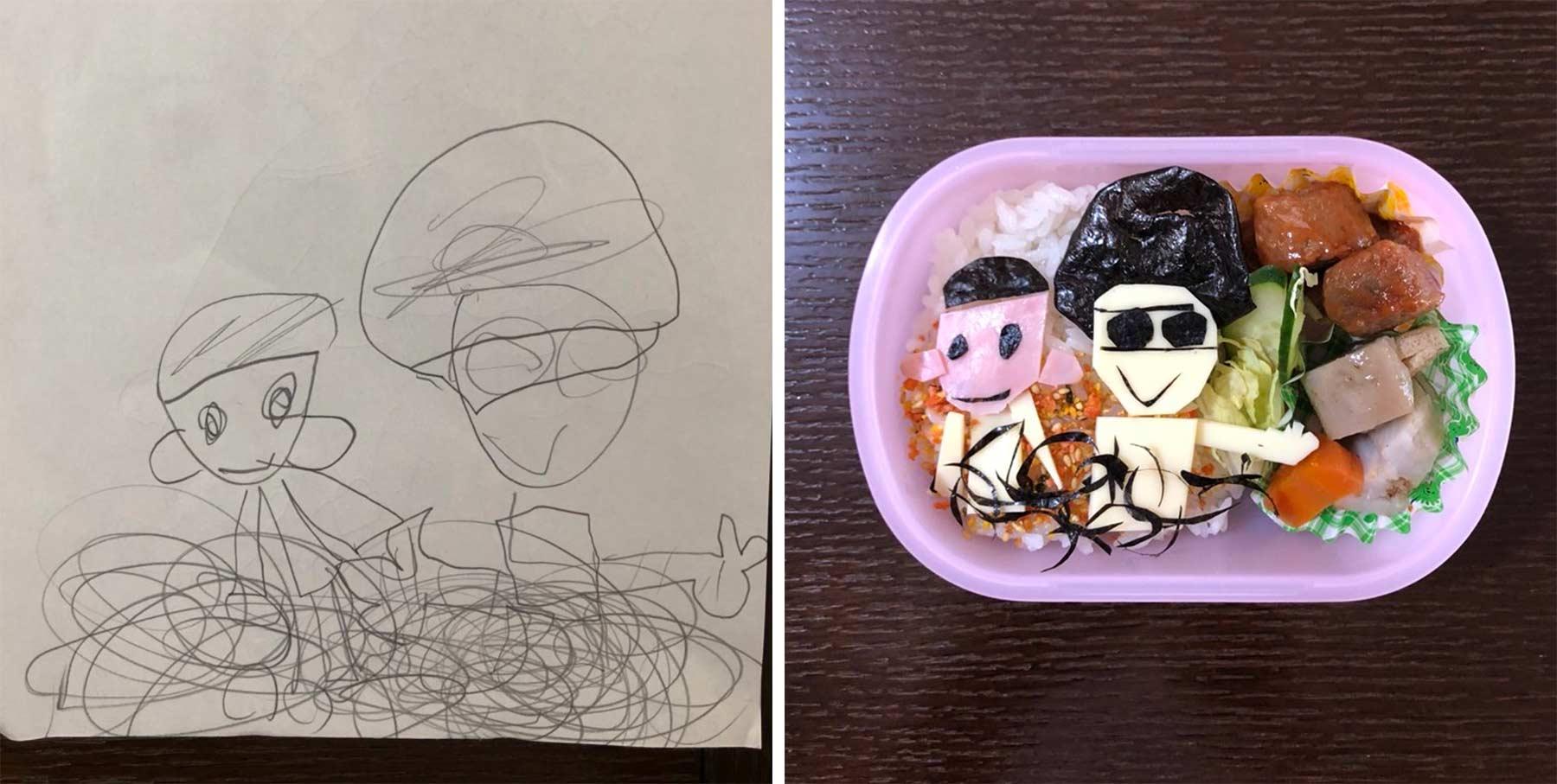 Aus Kinderkritzeleien werden Pausenbrote Takafumi-Ozeki_lunch_04