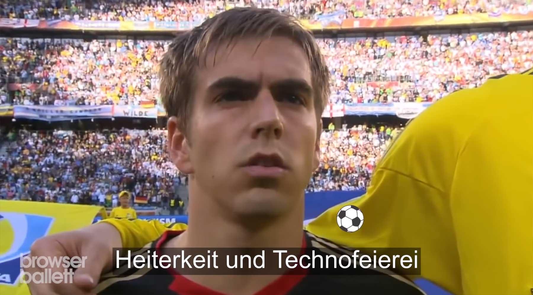 Bad Lipreading beim Hymne-Singen der deutschen Nationalmannschaft