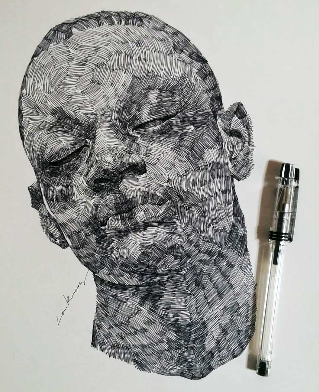 Zeichnungen: Lee.k gezeichnete-portraits-lee-k_02