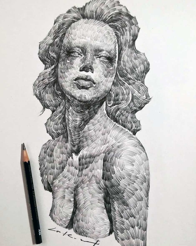 Zeichnungen: Lee.k gezeichnete-portraits-lee-k_04