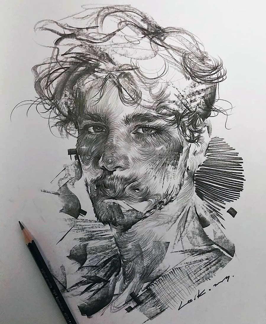 Zeichnungen: Lee.k gezeichnete-portraits-lee-k_08