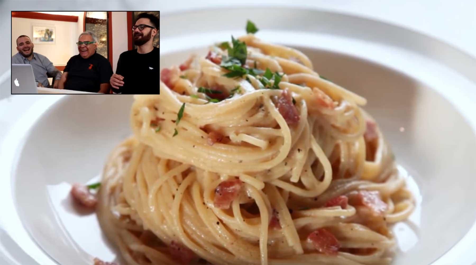 Italienische Chefköche reagieren auf die meistgeklickten Carbonara-Videos