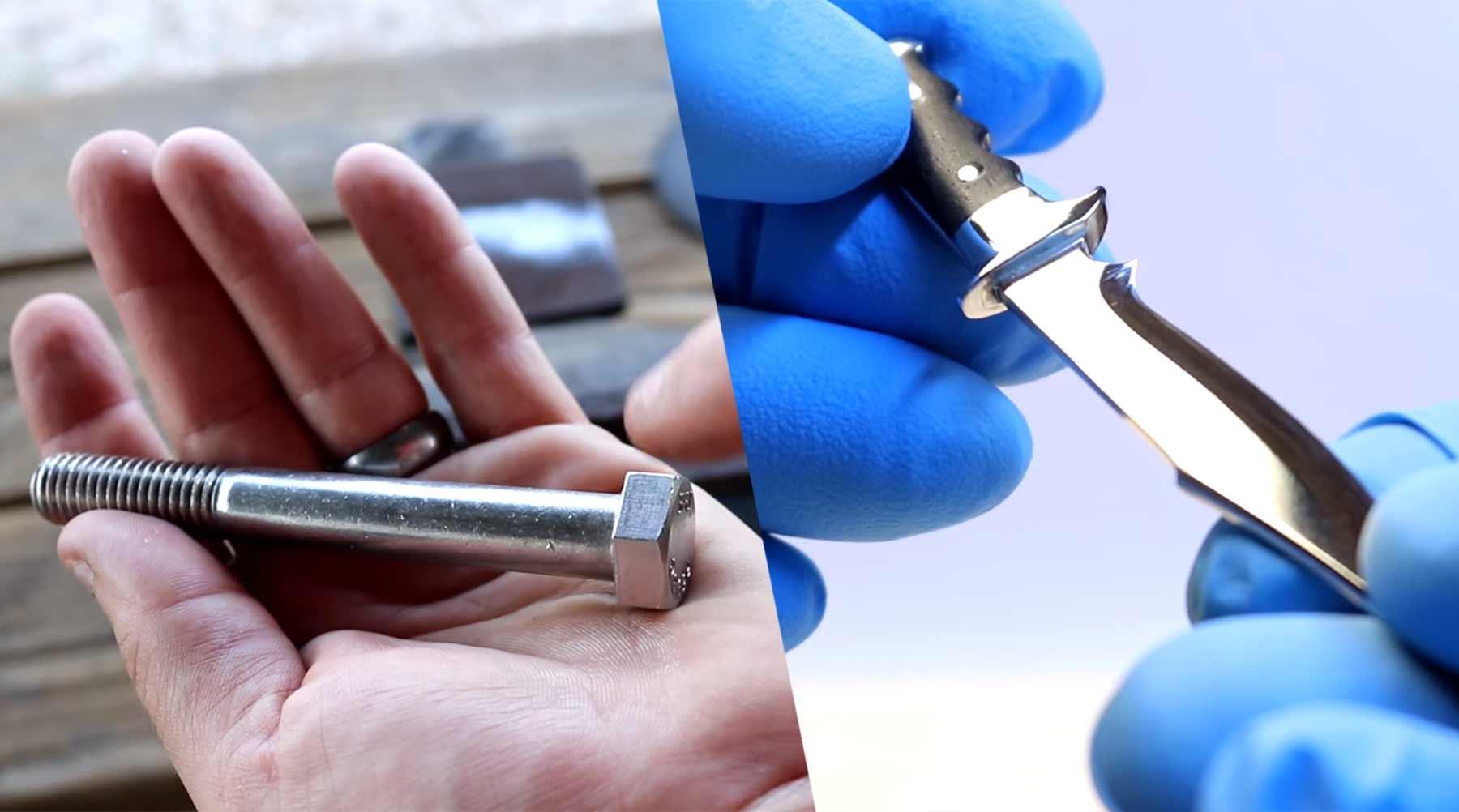 Aus großer Schraube ein kleines Messer handwerkeln messer-aus-schraube