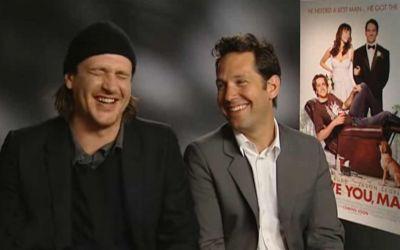 Paul Rudd und Jason Segel haben Spaß beim gemeinsamen Interview