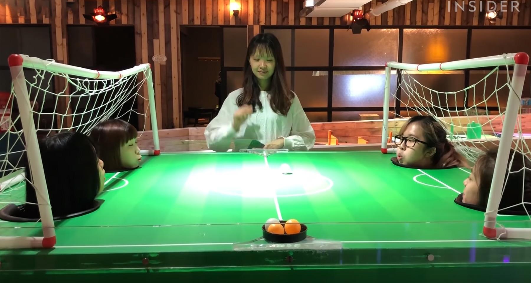 In dieser Spielhalle kann man Puste-Pong und andere skurrile Spiele spielen