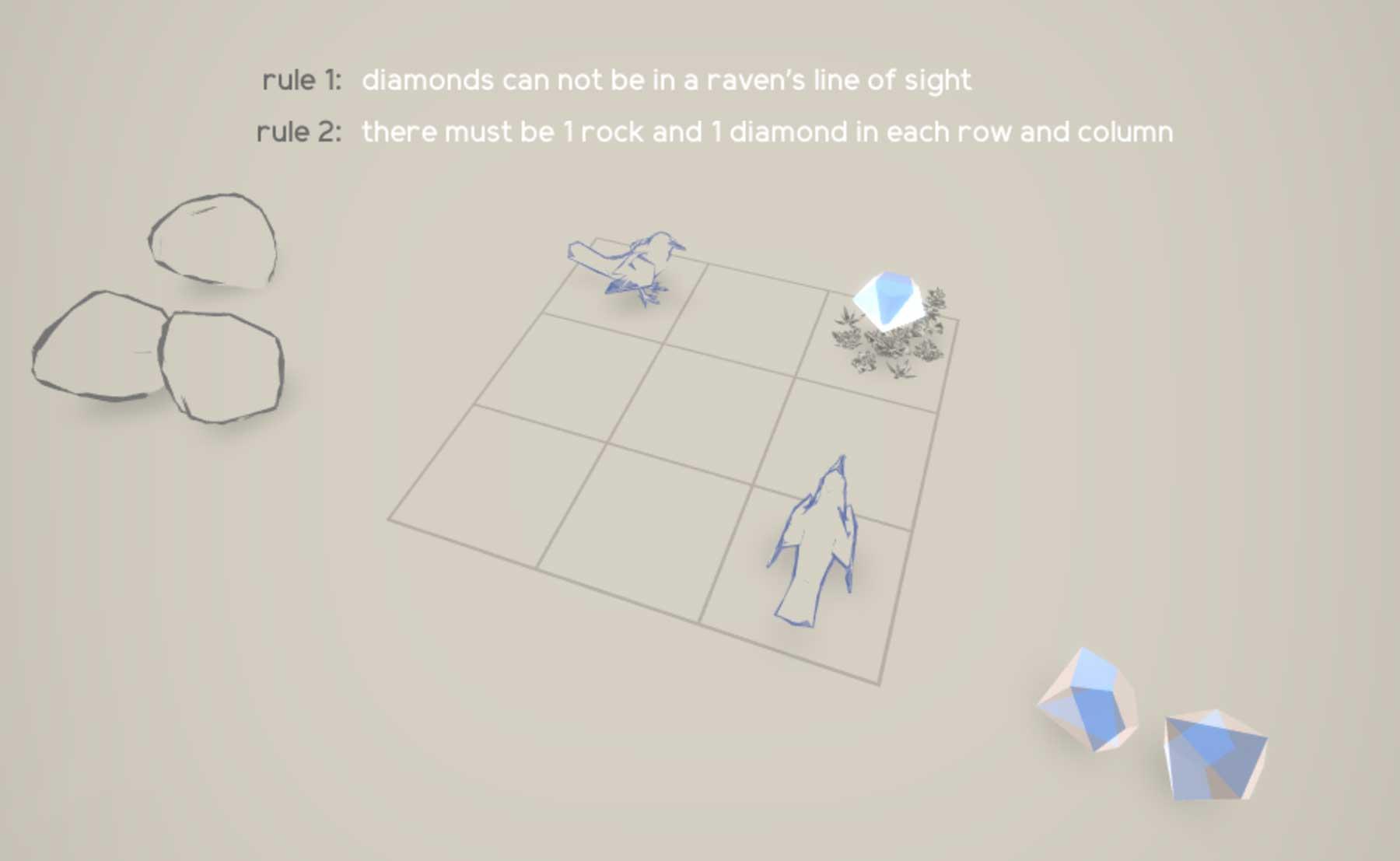 Logik-Browserspiel: Rocks and Ravens rocks-and-ravens_02