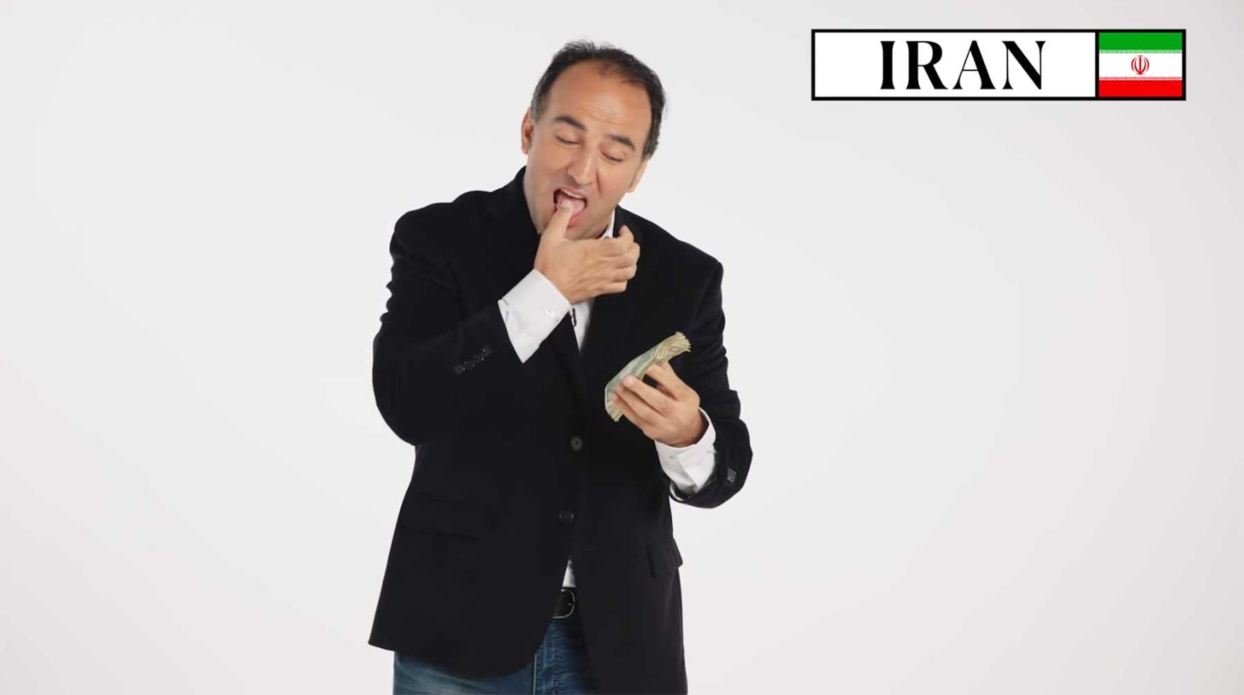 70 Leute zeigen, wie in ihren Ländern Geld gezählt wird