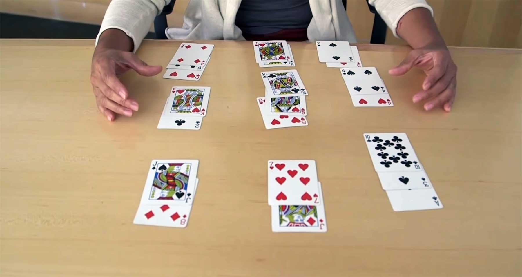 Lernt den 21-Karten-Trick