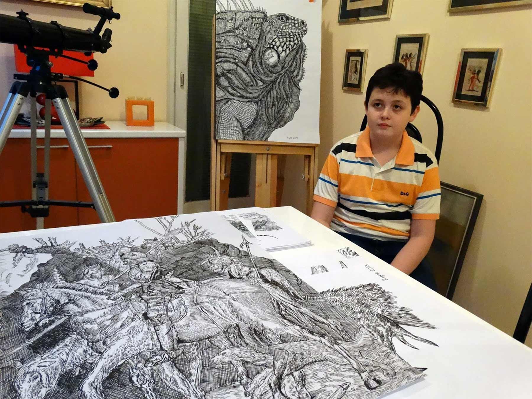 Die genialen Zeichnungen des 15-jährigen Dušan Krtolica Dusan-Krtolica-zeichnungen-2018_06