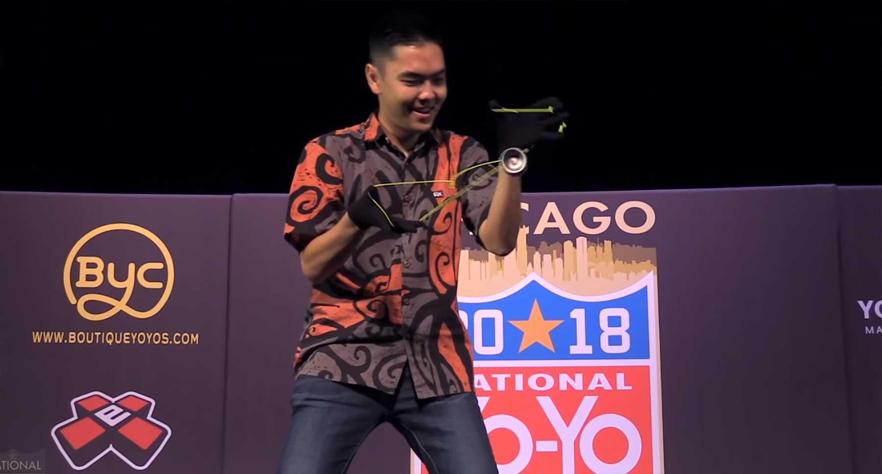 Evan Nagaos Gewinnerlauf bei den Jojo-Meisterschaften 2018