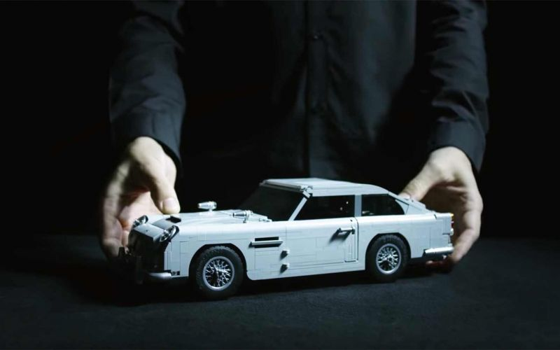 James Bonds Aston Martin DB5 als LEGO-Modell