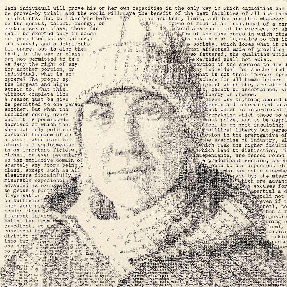Schreibmaschinen-Portraits von Leslie Nichols