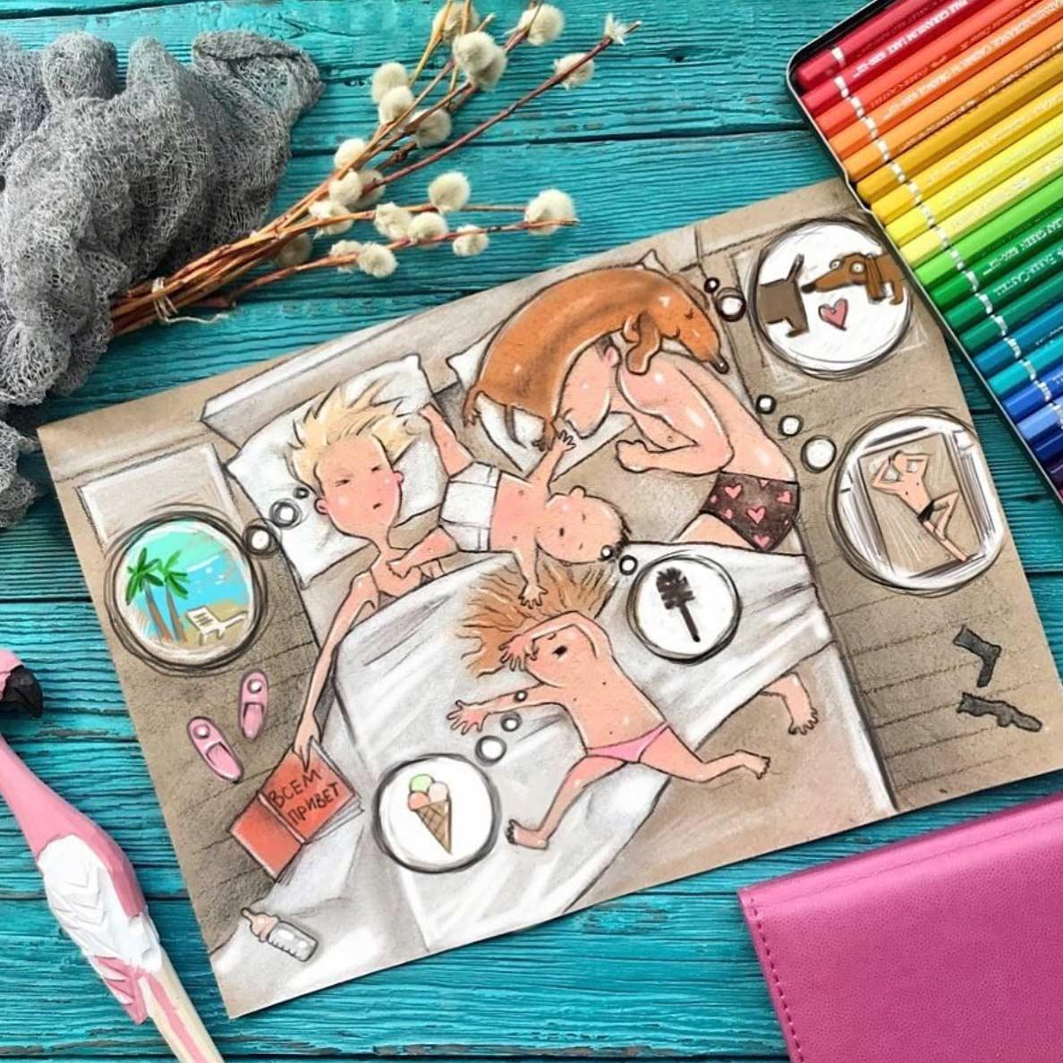 Gezeichnet vom Elterndasein Maria-Gorbunova-gezeichnetes-elterndasein_01