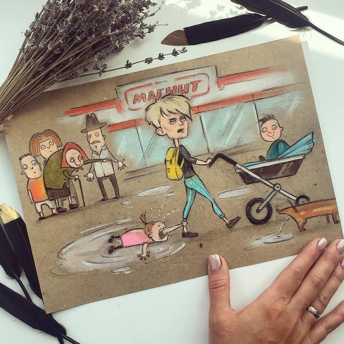 Gezeichnet vom Elterndasein Maria-Gorbunova-gezeichnetes-elterndasein_08