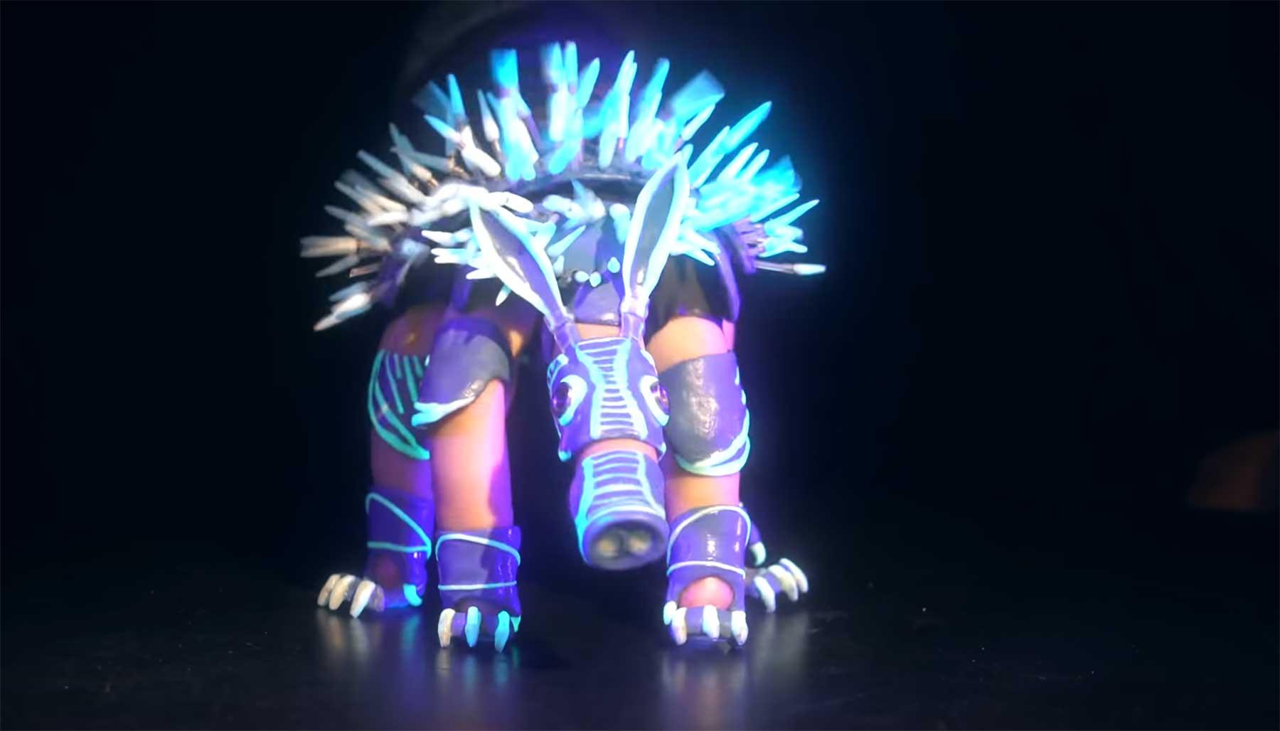 Neue leuchtende Fingerpuppe von Barnaby Dixon