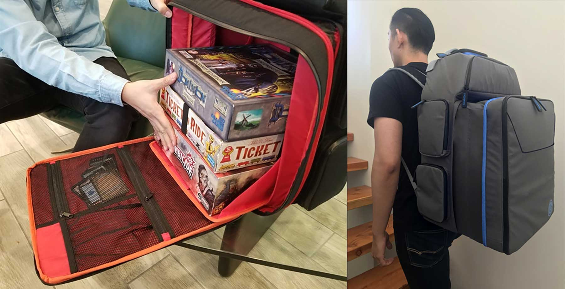 Rucksack für Brettspiele